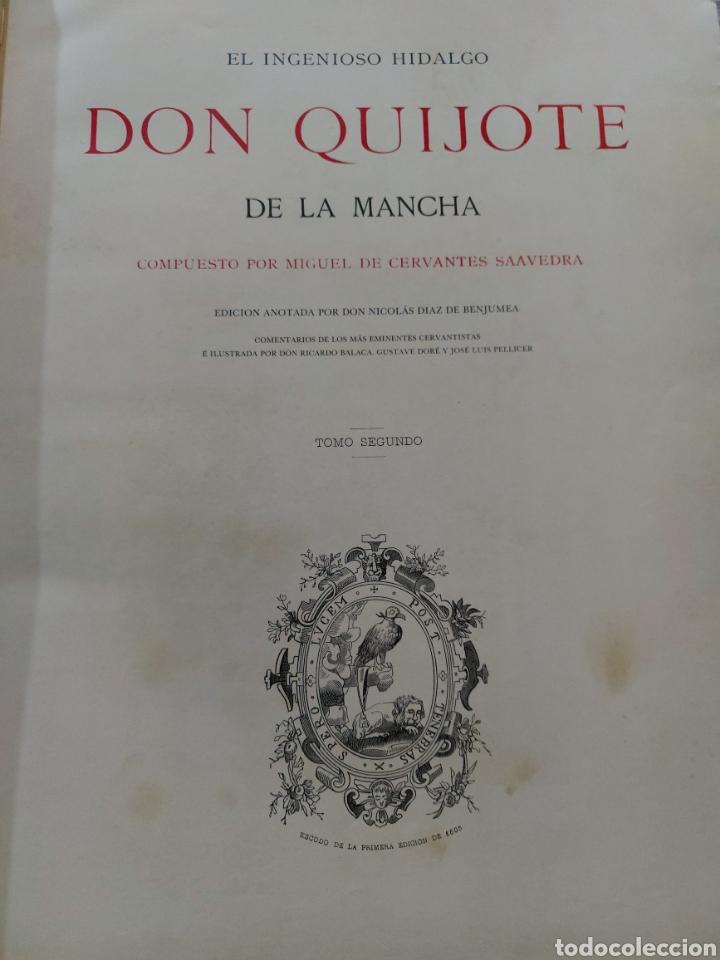 Libros antiguos: Quijote - Foto 10 - 267704529