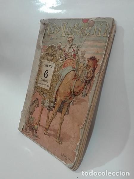 Libros antiguos: EL AÑO INFANTIL (Manuel Ossorio Bernard) + LAS CUATRO ESTACIONES (Carlos Frontaura). Año 1924. - Foto 3 - 267847294