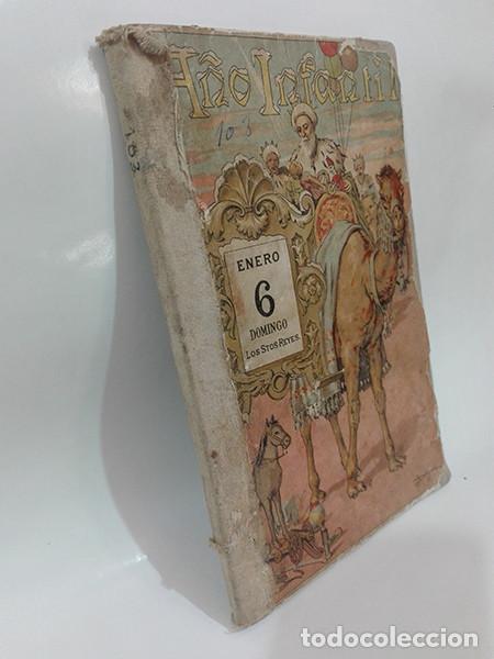 Libros antiguos: EL AÑO INFANTIL (Manuel Ossorio Bernard) + LAS CUATRO ESTACIONES (Carlos Frontaura). Año 1924. - Foto 2 - 267847294