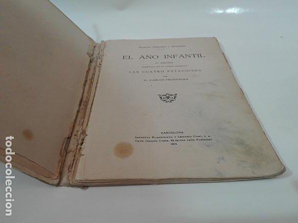 Libros antiguos: EL AÑO INFANTIL (Manuel Ossorio Bernard) + LAS CUATRO ESTACIONES (Carlos Frontaura). Año 1924. - Foto 5 - 267847294