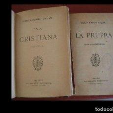 Livres anciens: UNA CRISTIANA. NOVELA. LA PRUEBA (SEGUNDA PARTE DE UNA CRISTIANA). EMILIA PARDO BAZÁN. Lote 268138749