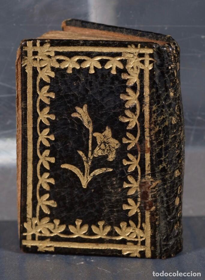 Libros antiguos: Libro en miniatura Le Petit-Poucet année 1818. Dédi à l'Enfance Paris - 27 mm x 19 mm - Foto 3 - 268593019