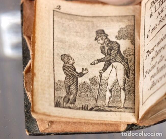 Libros antiguos: Libro en miniatura Le Petit-Poucet année 1818. Dédi à l'Enfance Paris - 27 mm x 19 mm - Foto 5 - 268593019