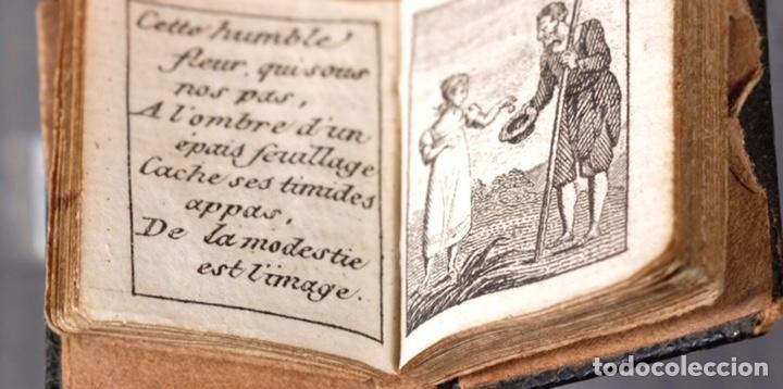 Libros antiguos: Libro en miniatura Le Petit-Poucet année 1818. Dédi à l'Enfance Paris - 27 mm x 19 mm - Foto 6 - 268593019