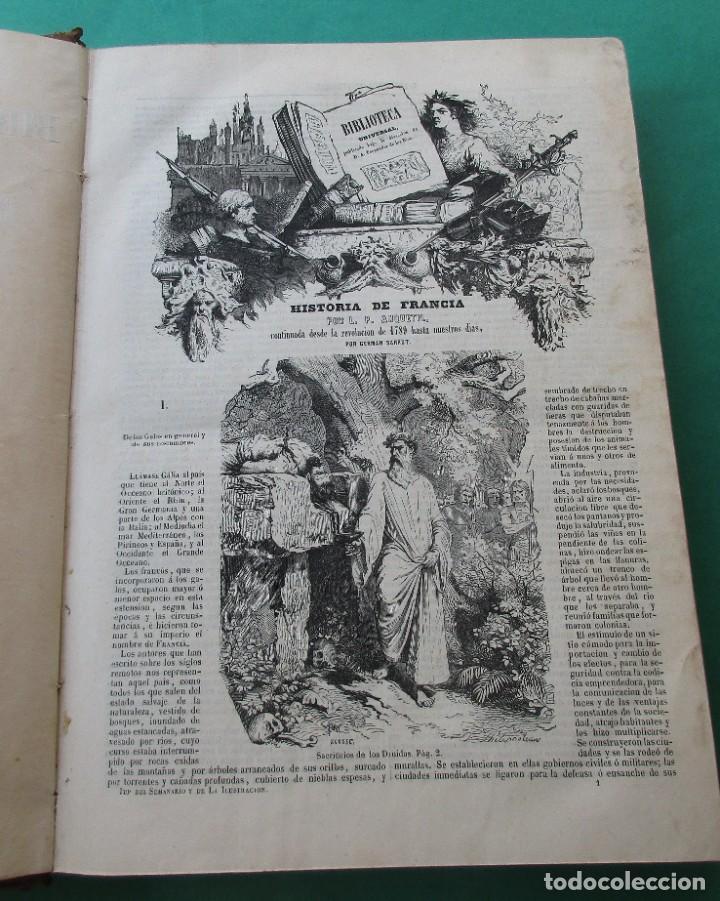 """Libros antiguos: ´HISTORIA DE FRANCIA"""". L. P. ANQUETIL Y GERMAN SARRUT.2 TOMOS EN 1.1851.ILUSTRACIONES.400 + 314 PÁGI - Foto 4 - 268691379"""