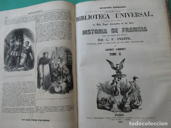 """Libros antiguos: ´HISTORIA DE FRANCIA"""". L. P. ANQUETIL Y GERMAN SARRUT.2 TOMOS EN 1.1851.ILUSTRACIONES.400 + 314 PÁGI - Foto 6 - 268691379"""