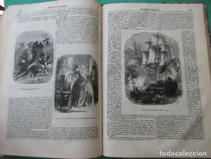 """Libros antiguos: ´HISTORIA DE FRANCIA"""". L. P. ANQUETIL Y GERMAN SARRUT.2 TOMOS EN 1.1851.ILUSTRACIONES.400 + 314 PÁGI - Foto 8 - 268691379"""