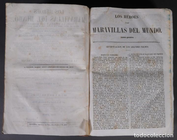 Libros antiguos: Los héroes y las maravillas del mundo - Tomo quinto 1855 - Foto 7 - 268846949