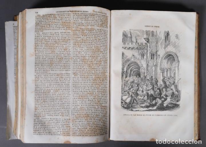 Libros antiguos: Los héroes y las maravillas del mundo - Tomo quinto 1855 - Foto 16 - 268846949
