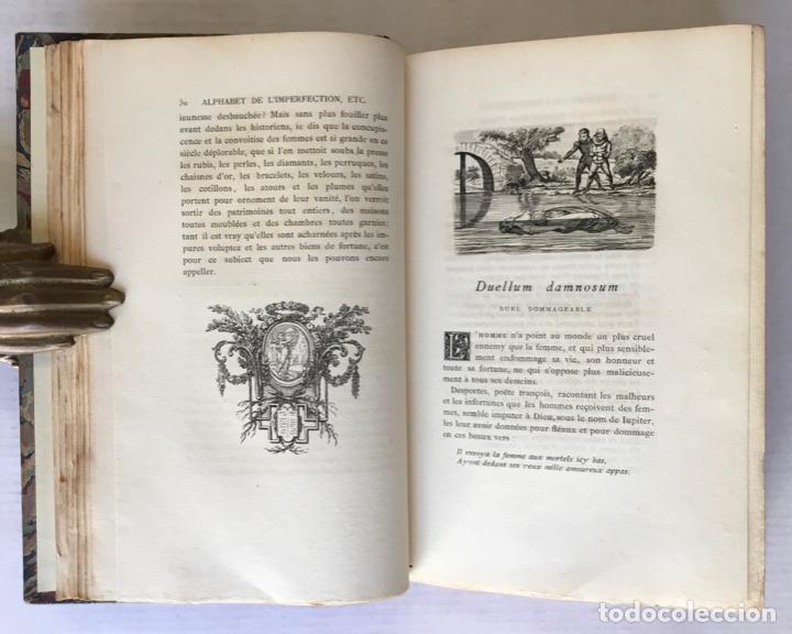 Libros antiguos: ALPHABET DE LIMPERFECTION ET MALICE DES FEMMES. Revue, corrigé, et augmenté dun friand dessert et - Foto 3 - 123224531