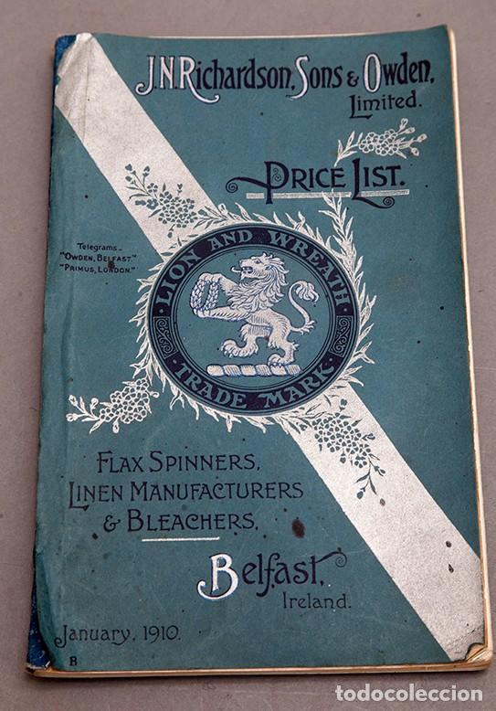 CATÁLOGO DE CONFECCIONES DE LINO - 1910 - BELFAST (Libros Antiguos, Raros y Curiosos - Ciencias, Manuales y Oficios - Otros)