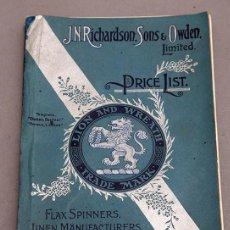 Libros antiguos: CATÁLOGO DE CONFECCIONES DE LINO - 1910 - BELFAST. Lote 269078638