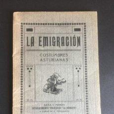 Livres anciens: LA EMIGRACION. COSTUMBRES ASTURIANAS RO.SE.TE.. Lote 269098378