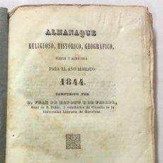 Libros antiguos: ALMANAQUE RELIGIOSO, HISTÓRICO, GEOGRÁFICO, FÍSICO Y AGRÍCOLA PARA EL AÑO BISIESTO 1884. - ZAFONT Y. Lote 123261883