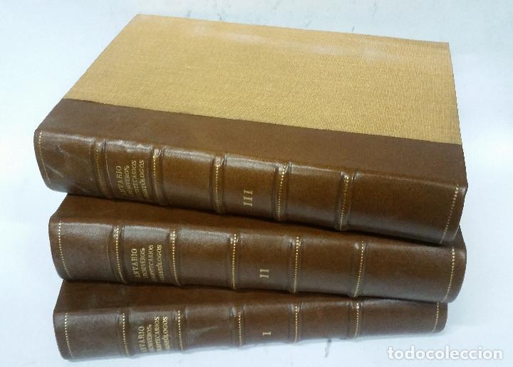 Libros antiguos: 1934 - Anuario del cuerpo de Archiveros, Bibliotecarios y Arqueólogos. 3 tomos. Homenaje A MÉLIDA - Foto 2 - 269230433