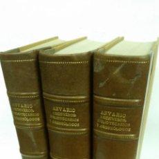Libros antiguos: 1934 - ANUARIO DEL CUERPO DE ARCHIVEROS, BIBLIOTECARIOS Y ARQUEÓLOGOS. 3 TOMOS. HOMENAJE A MÉLIDA. Lote 269230433