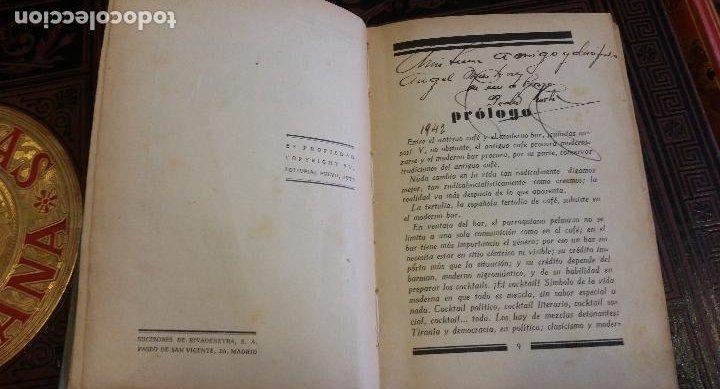 Libros antiguos: 1933 - PEDRO CHICOTE - Mis 500 cocktails - 1ª ED., DEDICADO - Foto 4 - 269242553