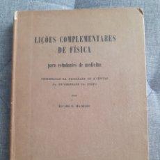 Libros antiguos: DE 1926 A 1943.LOTE DE 8 LIBROS DE FÍSICA EDICIONES.ÁLVARO R. MACHADO. Lote 269264028