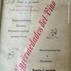 Libros antiguos: LAS ENFERMEDADES DEL VINO PRIEGO Y JARAMILLO 1900 ILUSTRADO MUY RARO. Lote 269300383