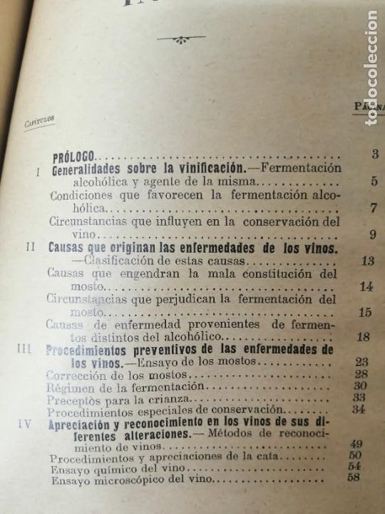 Libros antiguos: LAS ENFERMEDADES DEL VINO PRIEGO Y JARAMILLO 1900 ILUSTRADO MUY RARO - Foto 9 - 269300383