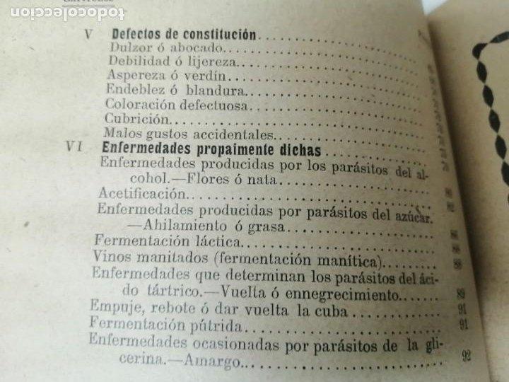 Libros antiguos: LAS ENFERMEDADES DEL VINO PRIEGO Y JARAMILLO 1900 ILUSTRADO MUY RARO - Foto 10 - 269300383