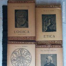 Libros antiguos: LOTE 4 LIBROS EDITORIAL LABOR. LOGICA, ETICA, ESTETICA YE INTRODUCCION A LA CIENCIA. 1933,1929,1935.. Lote 269405623