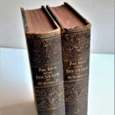 Livros antigos: 1898 - LA VIDA DE NUESTRO CORAZÓN DE JESUCRISTO - EL HIJO DE DIOS - POR M.MEFCHLER S.J - TOMO 1 Y 2. Lote 269419733