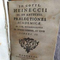 Libros antiguos: PRAELECTIONES ACADEMICAE , 1766 , VER DESCRIPCIÓN.. Lote 269583043
