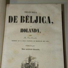 Libros antiguos: PANORAMA UNIVERSAL. EUROPA. HISTORIA DE BÉLGICA Y HOLANDA.- M. VAN KASSELT. Lote 269603878