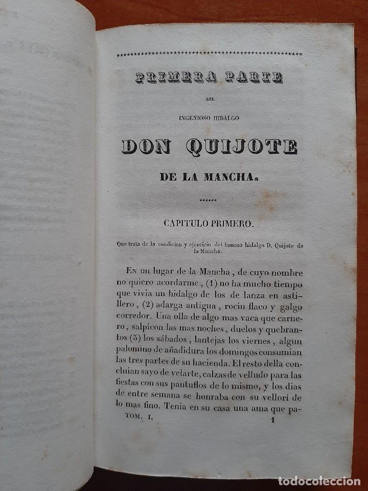 Libros antiguos: 1832 DON QUIJOTE - CERVANTES / TOMO I - 4 LÁMINAS - Foto 3 - 269626258
