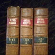 Libros antiguos: LIBRO SATYRE MANIPEE 1726 SIGLO XVIII LOS TRES TOMOS. Lote 269721458