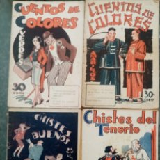 Libros antiguos: 4 LIBRITOS DE CHISTES 1933, ED ALAS. Lote 269822333