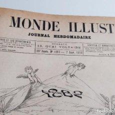 Libros antiguos: 1882 - LE MONDE ILLUSTRE - 28 X 38.CM. Lote 269933203