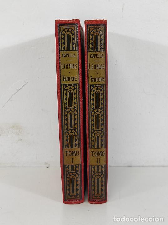 Libros antiguos: Leyendas y Tradiciones - Francisco de P. Capella - 2 Tomos - Imp La Hormiga de Oro - 1887 - Foto 2 - 269935328