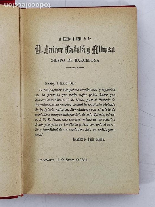 Libros antiguos: Leyendas y Tradiciones - Francisco de P. Capella - 2 Tomos - Imp La Hormiga de Oro - 1887 - Foto 7 - 269935328
