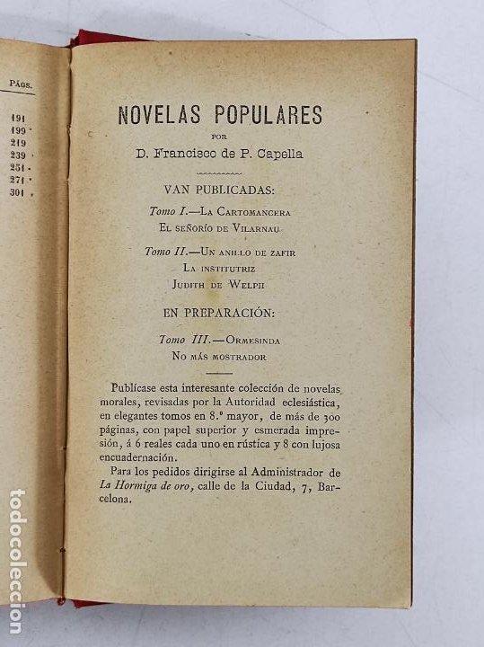 Libros antiguos: Leyendas y Tradiciones - Francisco de P. Capella - 2 Tomos - Imp La Hormiga de Oro - 1887 - Foto 10 - 269935328