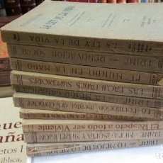Libros antiguos: 1919 - RODOLF WALDO TRINE - OBAS 10 TOMOS, MI FILOSOFÍA Y MI RELIGIÓN, EL CREDO DEL CAMINANTE, ETC.. Lote 269955958