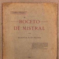 Libros antiguos: BOCETO DE MISTRAL. ALBERTO DE ACHICA ALLENDE. TIP. DE P. RUIZ (BERMEO) 1917.. Lote 269983103