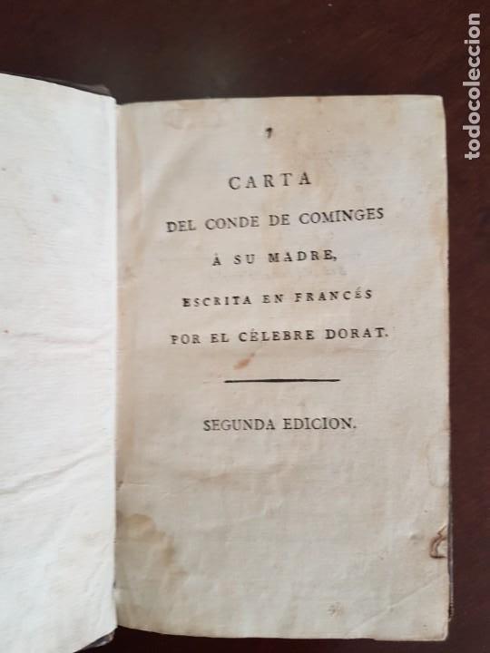 CARTAS DE DORAT - S. XIX (Libros Antiguos, Raros y Curiosos - Literatura - Otros)