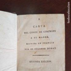 Libros antiguos: CARTAS DE DORAT - S. XIX. Lote 270096553