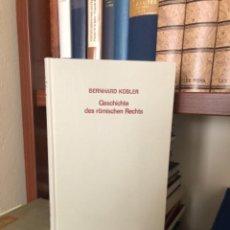 Libros antiguos: GESCHICHTE DES RÖMISCHEN RECHTS KÜBLER. Lote 270101733