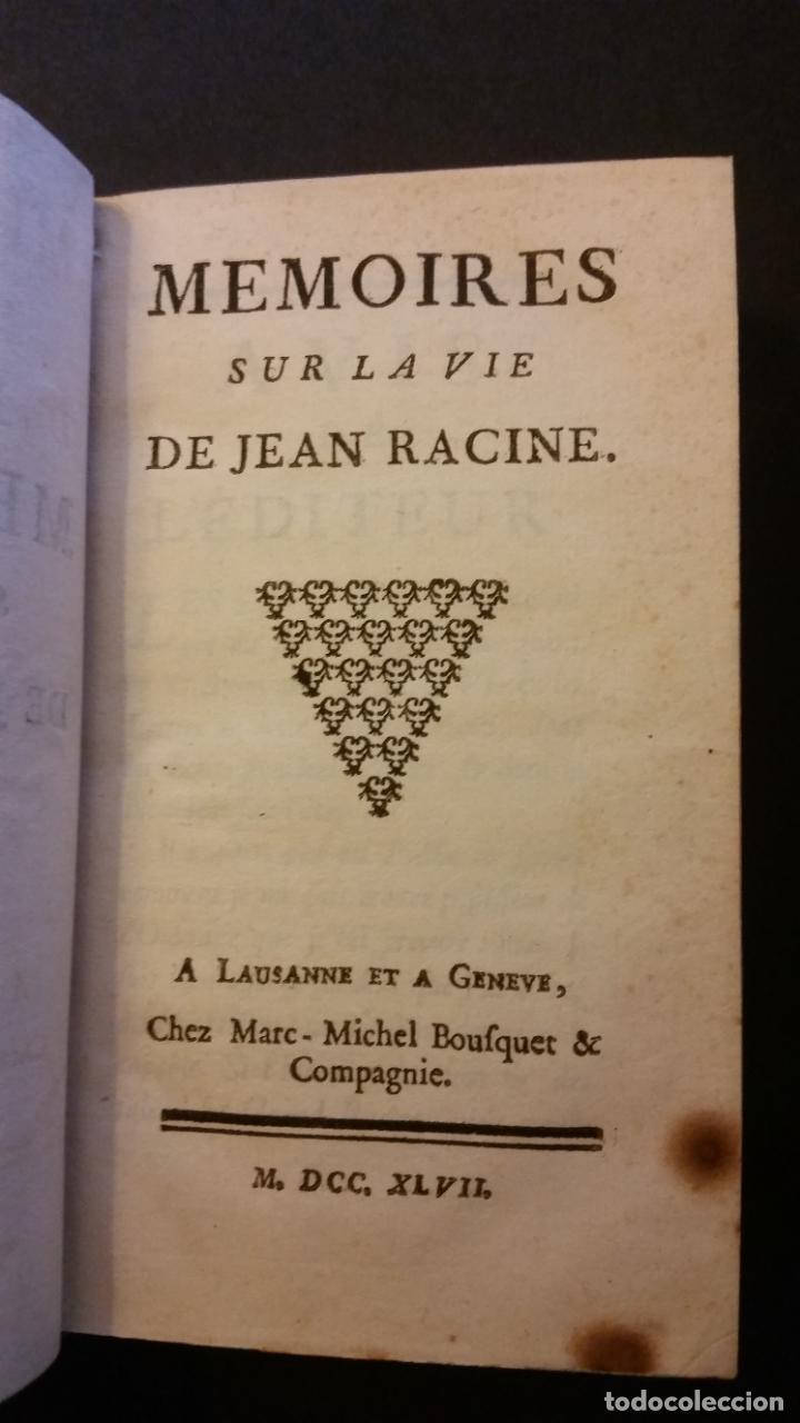 Libros antiguos: 1747 - JEAN RACIN - OEUVRES - 5 TOMOS, RACINE - Foto 4 - 270260618