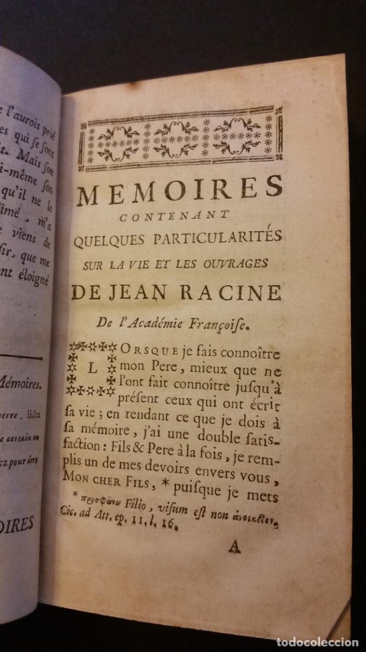 Libros antiguos: 1747 - JEAN RACIN - OEUVRES - 5 TOMOS, RACINE - Foto 6 - 270260618