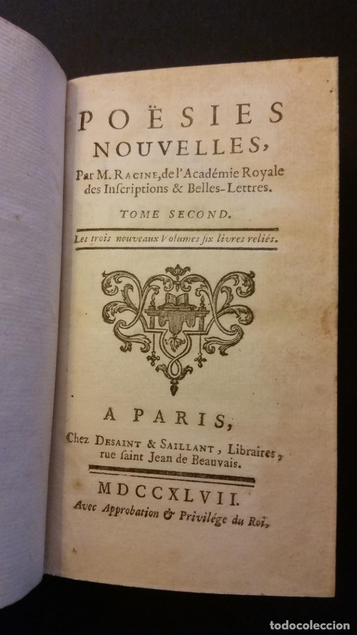 Libros antiguos: 1747 - JEAN RACIN - OEUVRES - 5 TOMOS, RACINE - Foto 7 - 270260618
