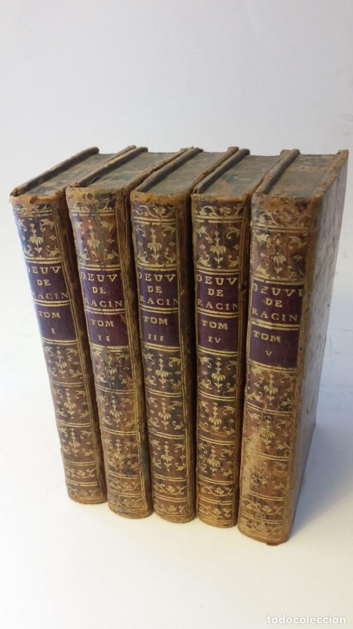 1747 - JEAN RACIN - OEUVRES - 5 TOMOS, RACINE (Libros Antiguos, Raros y Curiosos - Otros Idiomas)