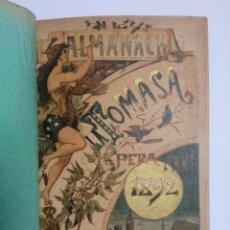 Libros antiguos: ALMANACH DE LA TOMASA + FOLLETÍ DE LA TOMASA ANY 1892. Lote 270356353
