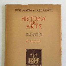 Libros antiguos: HISTORIA DEL ARTE. EN CUADROS ESQUEMATICOS. - AZCARATE, JOSE MARIA DE.. Lote 270597323