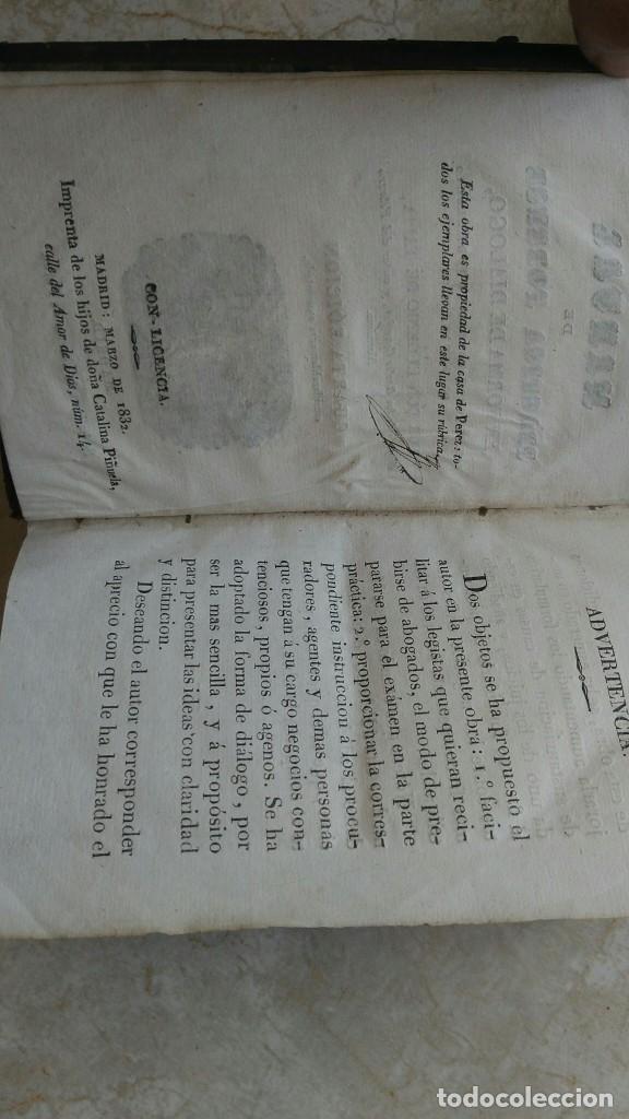 Libros antiguos: Manual de la práctica forense eugenio tapia 1832 - Foto 2 - 270682893