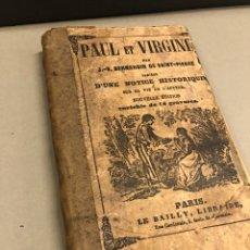 Libros antiguos: PAUL ET VIRGINE ( FRANCÉS) BERNARDIN DE SAINT PIERRE. Lote 270942688