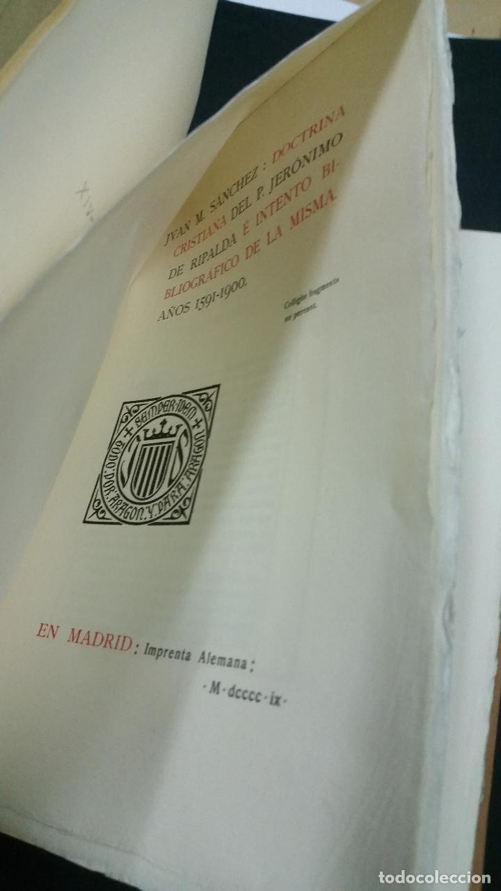 Libros antiguos: 1909 -SÁNCHEZ. Doctrina cristiana del padre Jerónimo de Ripalda e intento bibliográfico de la misma - Foto 3 - 270958948